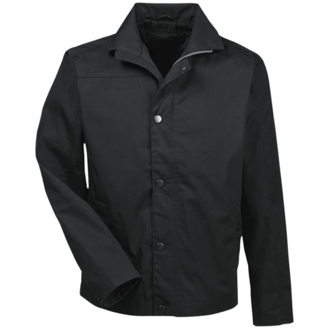 Long Sleeved Black Polo Jacket by Dels Apparel